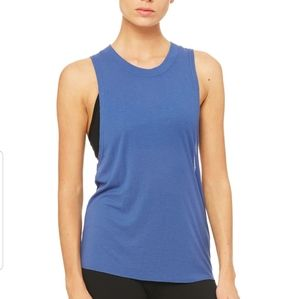 Alo Yoga Heat Wave ribbed high neck tank top